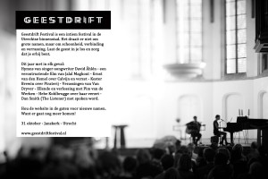 Geestdrift digitale Flyer